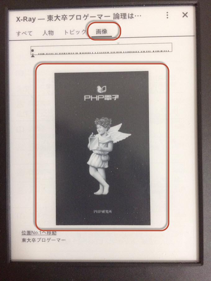 Kindle XRAY 画像