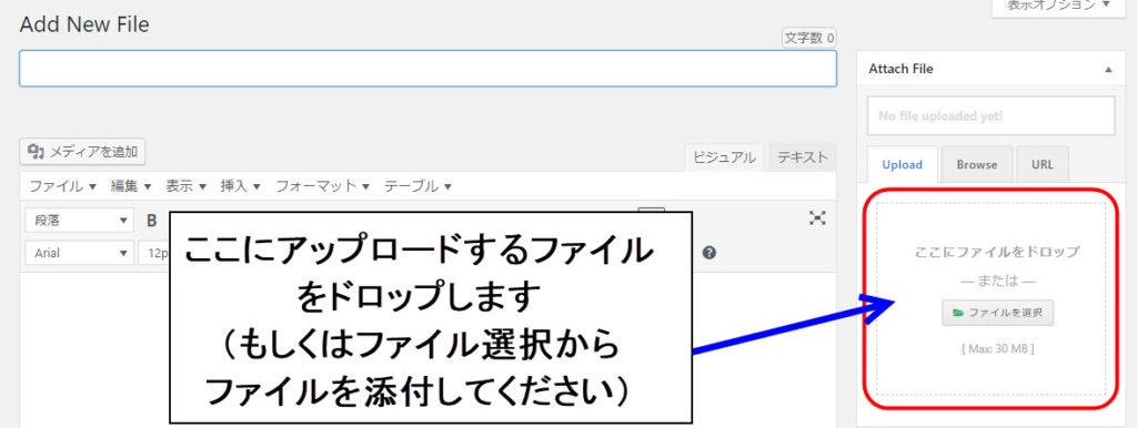 WordPress Download Manager アップロード