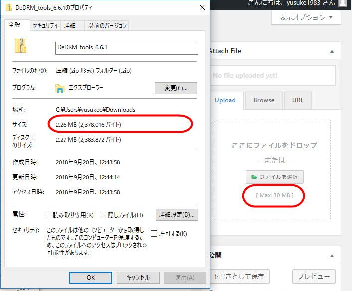 WordPress Download Manager ファイル添付