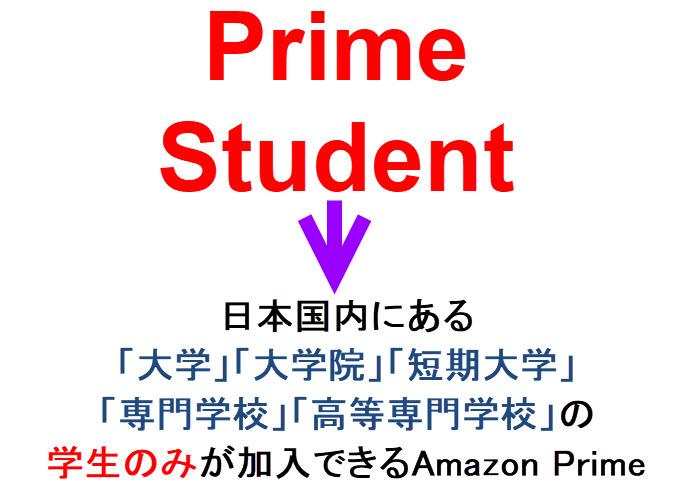 アマゾンプライム 学生
