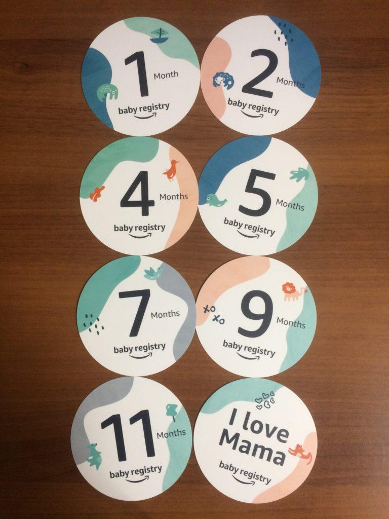 amazon ベビーレジストリ登録 月齢カード マンスリーカード インスタグラム