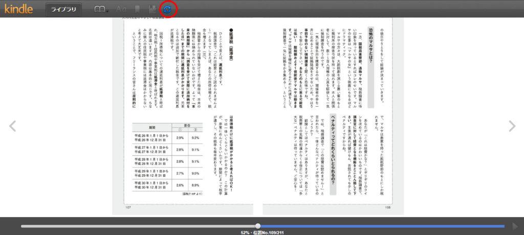 Kindle Cloud Reader 使い方 同期の仕方