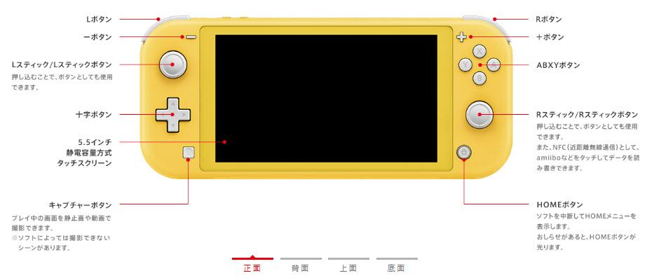 ニンテンドースイッチライト nintendo switch lite 正面