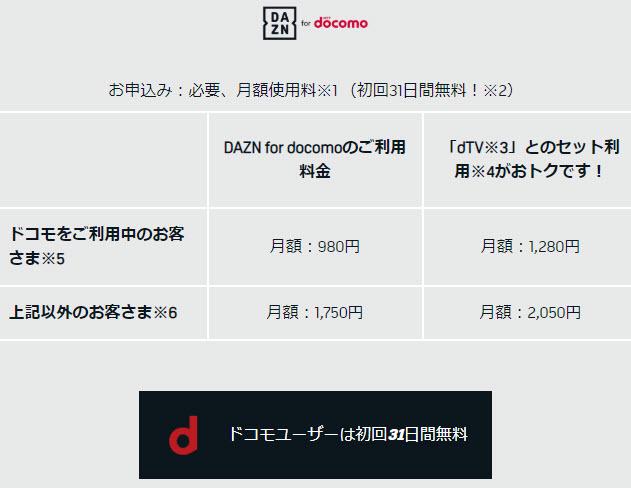 DAZN ダゾーン asp アフィリエイト 無料体験 無料期間 無料お試し