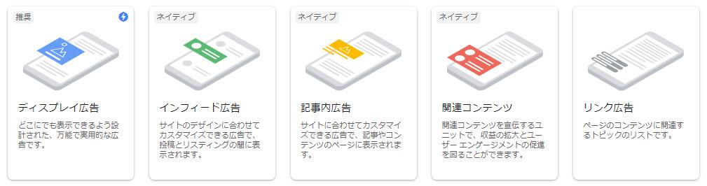 Googleアドセンス グーグルアドセンス 広告タイプ 広告の種類
