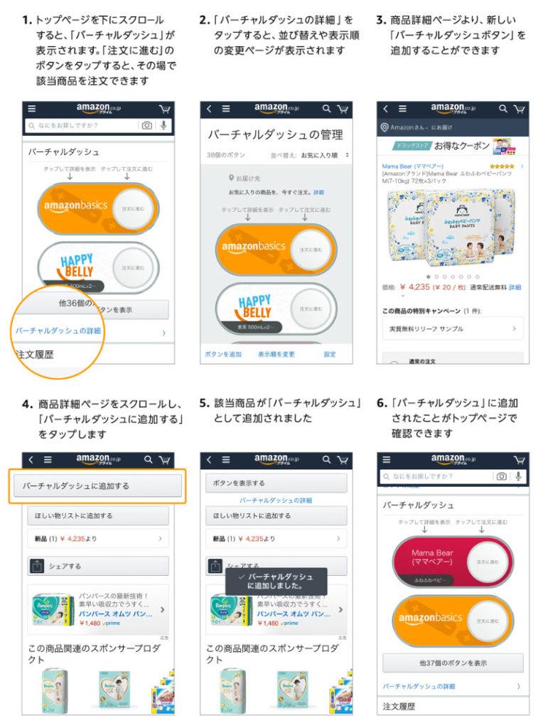 amazon prime day アマゾンプライムデー 2020 amazonショッピングアプリ ウォッチリスト 追加 登録 バーチャルダッシュ