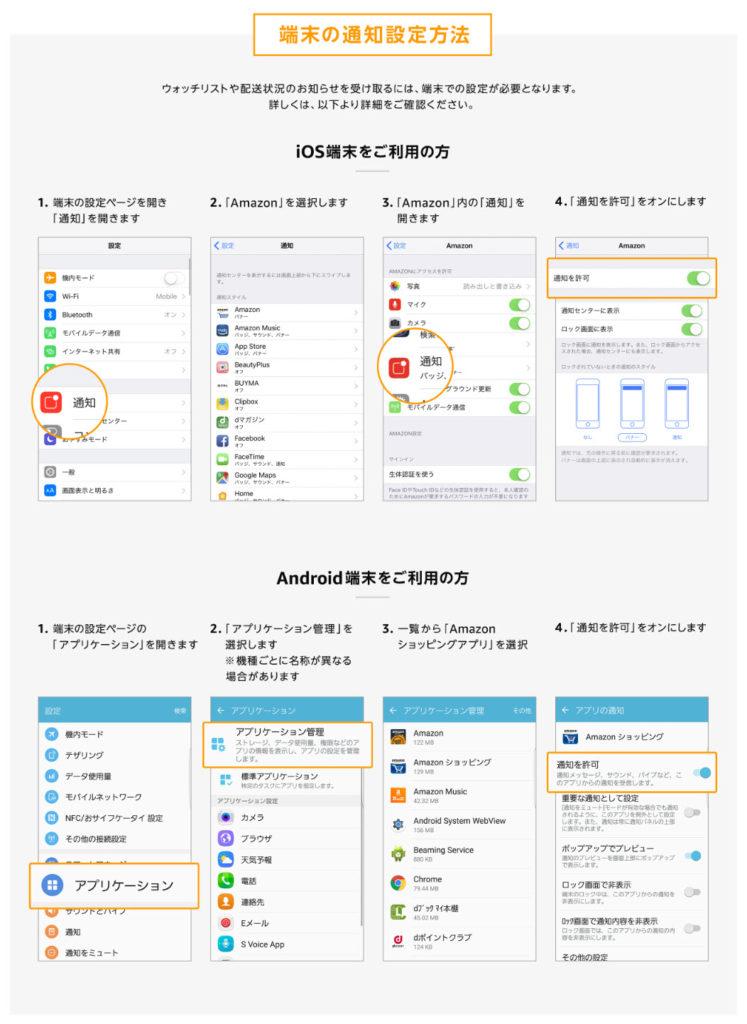 amazon prime day アマゾンプライムデー 2020 amazonショッピングアプリ ウォッチリスト 追加 登録 端末の通知設定