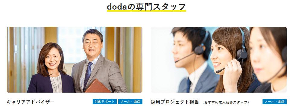 doda デューダ 転職エージェント スカウト キャリアアドバイザー 20代 30代 40代 50代