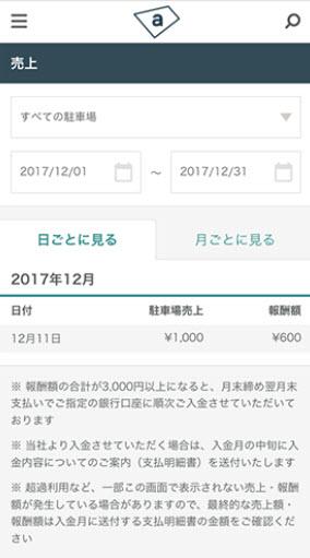 akippaとは あきっぱ アキッパ 駐車場 予約 無料 登録 個人間 オーナー ユーザー 法人 個人 予約状況の確認 売上の確認
