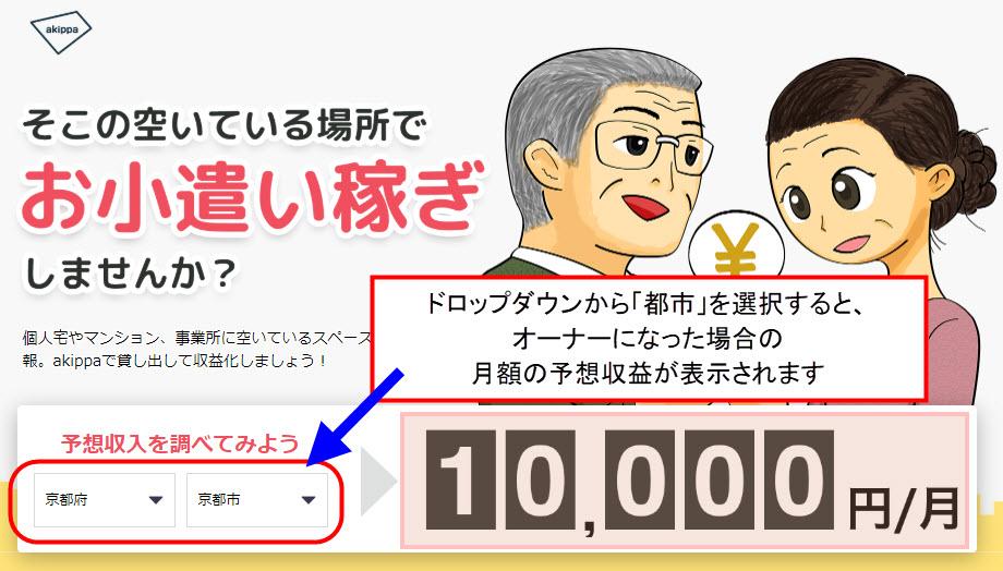 akippa あきっぱ アキッパ 駐車場 予約 無料 登録 個人間オーナー ユーザー 会員登録 マルチデバイス 使い方 始め方 新規登録 やり方 駐車場の登録 予想収益
