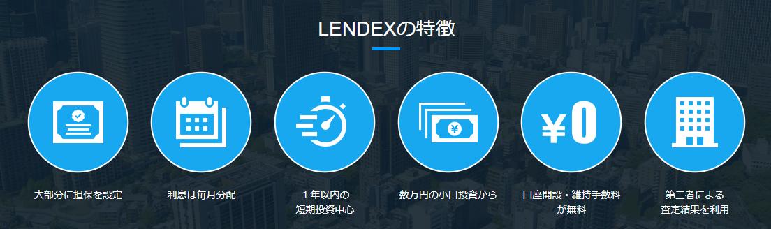 LENDEX レンデックス 登録方法 口座開設 ソーシャルレンディング クラウドファンディング 不動産投資 特徴 メリット デメリット