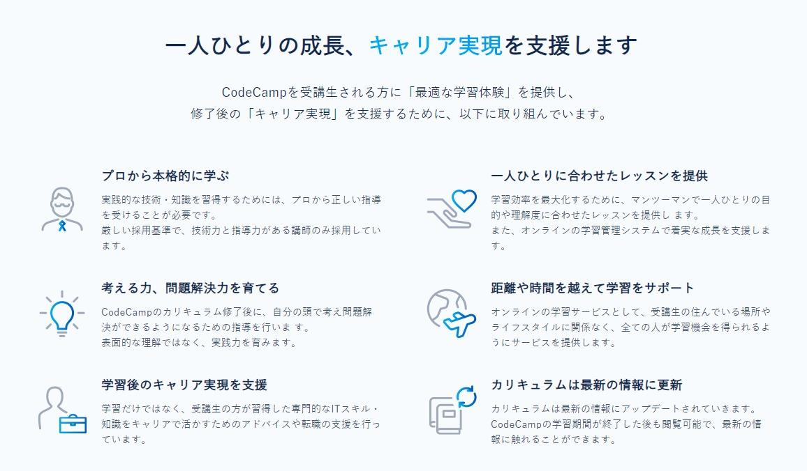コードキャンプゲート code camp gate codecampgate 教室 初心者 未経験 オンライン 転職支援 就職支援 言語 カリキュラム カスタマーサクセスコース